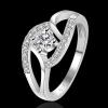 R911 แแหวนเพชรCZ ตัวเรือนเคลือบเงิน 925 หัวแหวนเพชรล้อม ขนาดแหวนเบอร์ 7