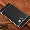 (พร้อมส่ง)เคสมือถือซัมซุง Case Samsung A9 Pro เคสนิ่มขอบทองแฟชั่นสไตล์นักธุรกิจสีดำ