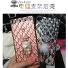 (442-016)เคสมือถือ Case Huawei P8 เคสนิ่มใสขอบชุบแววลายโมเสคแก้ว
