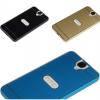 (025-074)เคสมือถือ Case HTC One E9+ เคสกรอบบัมเปอร์โลหะฝาหลังอะคริลิคทูโทน