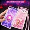 (549-001)เคสมือถือ Case Huawei P8 Lite เคสพลาสติกใส Glitter ทรายดูดหัวใจ