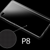 (พร้อมส่ง)เคสมือถือ Case Huawei P8 เคสนิ่มใสพื้นหลังลายจุดกันรอยนิ้วมือ