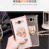 (389-024)เคสมือถือซัมซุง Case Samsung Galaxy On7 เคสนิ่มขอบชุบแววพื้นหลังใสประดับแหวนโลหะตั้งโทรศัพท์สวยๆ