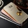 (025-175)เคสมือถือซัมซุง Case Samsung S6 Edge Plus เคสขอบโลหะพื้นหลังอะคริลิคเคลือบเงา