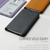 ZENUS : Curved Velo Diary Italian Genuine Leather Cover Case for Samsung Galaxy S5, SV, G900