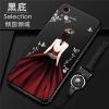 (025-722)เคสมือถือ Case Huawei Honor 5A/Y6II เคสนิ่มซิลิโคนลายการ์ตูนผู้หญิง ขอบเพชรพร้อมสายคล้องคอถอดแยกได้