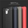 (025-817)เคสมือถือ Case Huawei Enjoy 7 Plus เคสนิ่มซิลิโคนลายหนังสไตส์เรียบหรู