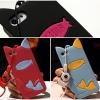 (440-081)เคสมือถือไอโฟน Case iPhone5C เคสนิ่มสไตล์แมว+เชือกรุ่น OLIVIA