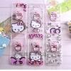 (436-041)เคสมือถือซัมซุง Case Samsung Galaxy S7 Edge เคสอะคริลิคใสลาย kitty+แหวนตั้งโทรศัพท์