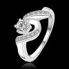 R909 แแหวนเพชรCZ ตัวเรือนเคลือบเงิน 925 หัวแหวนเพชรล้อม ขนาดแหวนเบอร์ 7