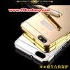 (025-154)เคสมือถือ Case Huawei ALek 4G Plus (Honor 4X) เคสกรอบโลหะพื้นหลังอะคริลิคเคลือบเงาทองคำ 24K
