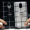 (440-095)เคสมือถือซัมซุงโน๊ต Case Note4 เคสนิ่ม+เชือก+แหวนตั้งโทรศัพท์ลายตาราง