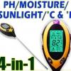 PH01-เครื่องวัดดิน ระบบดิจิตอล 4in1 วัดค่ากรดด่าง PH meter, วัดความชื้น, วัดอุณหภูมิ, ความเข้มแสง รุ่น AMT300/KCB300