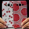 (440-048)เคสมือถือซัมซุง case samsung A5 เคสนิ่มขอบสีพื้นหลังลายสวยๆน่ารักๆ