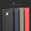 (025-807)เคสมือถือ Case Huawei P9 เคสนิ่มซิลิโคนลายหนังสไตส์เรียบหรู