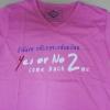 เสื้อยืด Yes Or No 2 ชมพู ไซส์ M