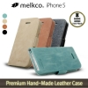 Melkco : Leather Case Wallet Book Type For Apple iPhone 5