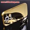 (025-132)เคสมือถือซัมซุง Case Mega 5.8 เคสกรอบโลหะพื้นหลังอะคริลิคเคลือบเงาทองคำ 24K