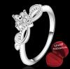 ฟรีกล่องแหวน R899 แแหวนเพชรCZ ตัวเรือนเคลือบเงิน 925 หัวแหวนมงกุฎแต่งเพชร ขนาดแหวนเบอร์ 7