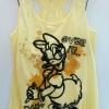 Disney (เด็กโต)----งานแท้ เสื้อกล้ามสีเหลือง ลายเดย์ซี่ (Daisy Duck) เต็มตัว หล้งว้าว เอวยืดจั๊มนิดๆ ผ้านิ่ม ใส่สบายเหมาะกับอากาศบ้านเราค่ะ size 164