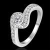 R908 แแหวนเพชรCZ ตัวเรือนเคลือบเงิน 925 หัวแหวนเพชรล้อม ขนาดแหวนเบอร์ 7