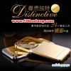 (025-164)เคสมือถือไอโฟน Case iPhone 6/6S เคสกรอบโลหะพื้นหลังอะคริลิคเคลือบเงาทองคำ 24K
