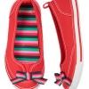รองเท้า Gymboree (นำเ้ข้าแท้ USA) ---Stripe Bow Sneaker size 11, 13