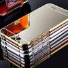(025-170)เคสมือถือ Case Huawei Ascend G7 เคสกรอบโลหะพื้นหลังอะคริลิคเคลือบเงาทอง 24K