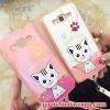 (391-037)เคสมือถือซัมซุงแกรนด์ case grand 2 เคสนิ่มฝาหลังลายแมวน่ารักๆ DOMI CAT