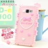 (412-031)เคสมือถือซัมซุง Case Samsung A3 (2016) เคสนิ่ม 3D Youth Love ลายหัวใจและโบว์น่ารักๆ