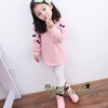 (Pre) เสื้อแขนยาว ติดโบว์ที่แขน สีชมพู