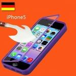 (474-002)เคสมือถือไอโฟน case iphone 5/5s/SE เคสนิ่มคลุมเครื่องฝาพับกระจกนิรภัย