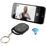 remote shutter (Bluetooth Wireless ลั่นชัตเตอร์) สำหรับ iPhone 5 & 5C & 5S, iPad Air / mini, Samsung Galaxy Note III / N9000 / i9500 / i9300, Sony Xperia Z1 / L39h / L36h, HTC One Max / M7, ระยะไกล : 10m (Black)