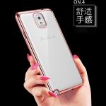 (436-323)เคสมือถือซัมซุงโน๊ต Case Note3 เคสนิ่มใสขอบชุบแวว