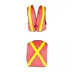 เสื้อสะท้อนแสงแบบเสื้อกั๊ก ติดแถบสะท้อนแสง 2 แถบ หน้า-หลัง สีส้ม รุ่น TV-1 ( Traffic Vest )