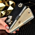 (022-016)เคสมือถือซัมซุงกาแล็คซี่เอส 4 Samsung Case เคสพลาสติกฝาพับเปิดข้าง Rhinestone สวยวิ้งๆ