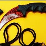 มีดซ้อมควง คารัมบิตเรดสไปเดอร์ Red Spyder Karambit Trainer Knife TKKB-RS1TR