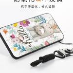 (025-683)เคสมือถือ Case Huawei GR5 2017 เคสนิ่มซิลิโคนลายน่ารักพร้อมแหวนมือถือและสายคล้องคอถอดแยกได้