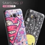 (151-219)เคสมือถือซัมซุง Case Samsung Galaxy J7 เคสนิ่มพื้นดำลายสวยๆ น่ารักๆ ยอดฮิต