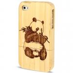 Woodcarving Panda Bamboo Case iPhone 4 & 4S