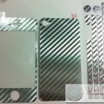 ฟิล์มกันรอยแฟชั่น รอบเครื่อง Kevlar Flim สีเงิน for iPhone4S/4S (MSP047) by WhiteMKT