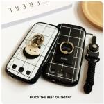 (668-001)เคสมือถือซัมซุง Samsung Galaxy S3 เคสนิ่มลายตารางพื้นหลังแหวนการ์ตูนน่ารักๆ