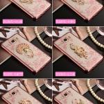 (025-597)เคสมือถือซัมซุง Case Samsung J5(2016) เคสนิ่มใสขอบแวว พร้อมแหวนเพชรวางโทรศัพท์ลายหรู