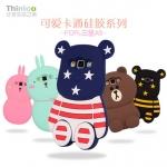 (013-002)เคสมือถือซัมซุง case samsung A5 เคสนิ่มตัวการ์ตูนกระต่ายและหมี 3D
