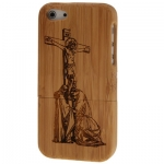 Case เคส Jesus Detachable Wood iPhone 5