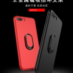 (025-607)เคสมือถือไอโฟน Case iPhone 7 เคสนิ่มซิลิโคนแฟชั่นแหวนมือถือยึดติดกับแม่เหล็กได้ หมุนได้ 360 ํ