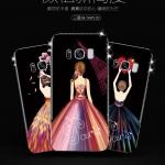 (025-732)เคสมือถือไอโฟน Case Samsung S8+ เคสนิ่มTPU ลายการ์ตูนผู้หญิงสวย ขอบเพชรหรูหรา