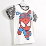 เสื้อเด็ก CISI แขนสั้น ลาย Spider man สีขาวดำ ขนาด 90-130
