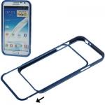 Aluminum Bumper Case Samsung Galaxy Note II , N7100 (Dark Blue)