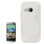 S Line Anti-skid Frosted TPU Case for HTC One (M8 mini) (Transparent)